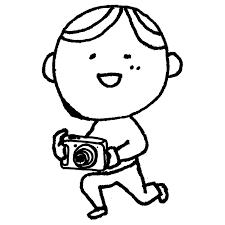 デジカメで写真を撮る男性のフリーイラスト フリーイラストクラシック