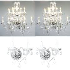 crystal chandelier wall sconces 4 piece crystal chandelier and wall sconce set crystal chandelier wall lights crystal chandelier wall sconces