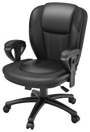 leather office chair. Z-Line Designs - Leather Office Chair Black Front_Standard R