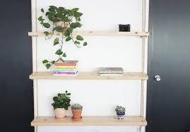 diy hanging rope shelves