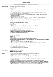 Associate Chemist Resume Samples Velvet Jobs