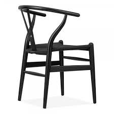 hans wegner wishbone chairs. danish designs wishbone chair - black / hans wegner chairs
