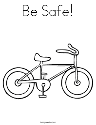 Be Safe Coloring Page - Twisty Noodle
