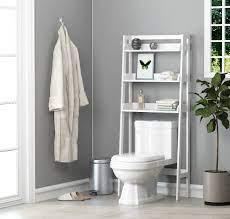 Utex 3 Shelf Bathroom Organizer Over The Toilet Bathroom Space Saver Bathroom Shelf White Finish Walmart Com Walmart Com