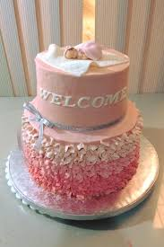 Baby Girl Baptismal Cake And Mini Cakes And Cupcakes By Bc