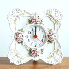 cool office clocks. White Vintage Wall Clock Decorative Table Clocks Office Desk Cool