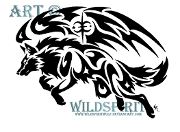 tribal wolf with wings drawing. Brilliant Wings Tribal Winged Wolf By WildSpiritWolf  With Wings Drawing A