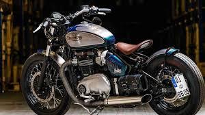 triumph bonneville bobber by bike brothers dark kustom