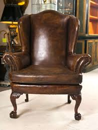 chair design ideas leather wing chairs antique leather wingback chair queen anne dark brown color
