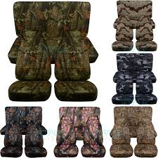 camouflage print car seat covers