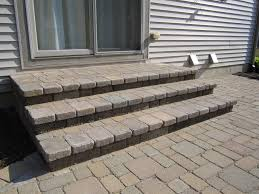 multi level paver patio is reconstructed to one level for added with how to build paver