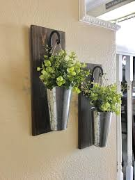 rustic wood and metal wall decor lovely galvanized metal hanging planter with greenery or flowers rustic