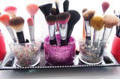 diy glitter makeup brush holder super easy on belindaselene