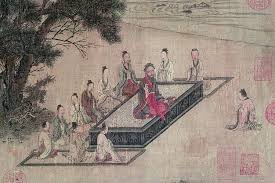 the college of chinese wisdom wsj confucius lectures students in a silk painting from around the song dynasty 960 1279