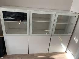 ikea besta cabinets with glass doors