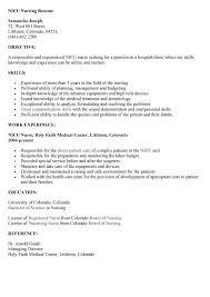 nicu nurse resume