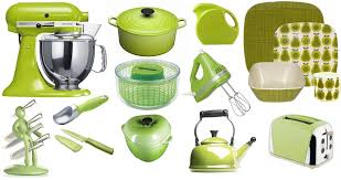 includinga kitchen aid stand mixer in apple green ...