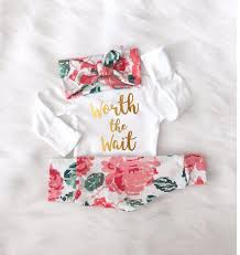Designer Newborn Baby Girl Clothes Gold Baby Girl Outfit Gold Girls Clothes Floral Girl Baby