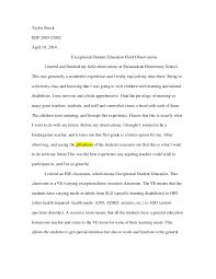 autism essay ese field observation essay com