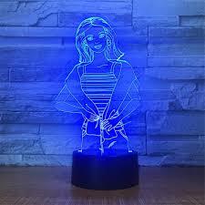Woman Sculpture Light Amazon Com Cute Smart Touch Woman 7 Colors Remote Control