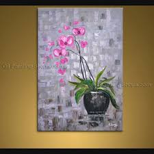 contemporary wall art floral painting orchid flower oil canvas for 2018 orchid canvas wall art  on orchid canvas wall art with showing photos of orchid canvas wall art view 7 of 15 photos