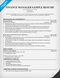 Finance Resume Format Experienced Best Of Financial Resume Template