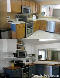 diy kitchen remodel on a budget before and after