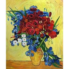 large wall landscape pictures poppies and iris collage vincent van gogh oil painting on canvas modern