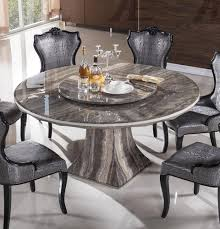 ... Dining Tables, Awesome Gray Round Modern Marble Marble Round Dining  Table Varnished Ideas: Glamorous ...