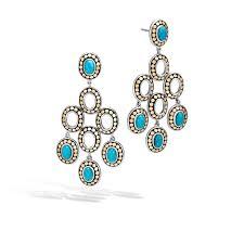 john hardy turquoise chandelier earrings