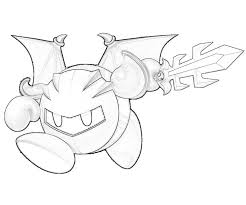 Small Picture Meta Knight Coloring Pages To Print Kids Coloring Pages Tenkai