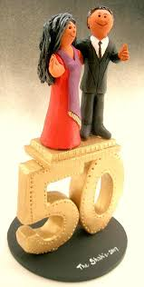 50th Anniversary Cupcake Decorations Wedding Cake Toppers June 2013