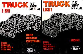 1987 ford f150 f250 f350 foldout wiring diagram 1987 ford pickup truck repair shop manual econoline van f150 f250 f350 bronco 149 00