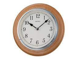 seiko wooden wall clock c5946 f