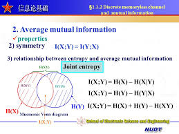 Mutual Information Venn Diagram 1 Entropy And Mutual Information Ppt Video Online Download