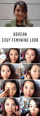 best korean makeup tutorials get ready with me korean edge feminine look giwon natural