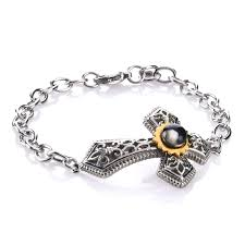 michael anthony jewelry nativity stone cross stainless steel pendant brac