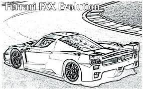 Enzo Ferrari Coloring Pages Coloring Pages Printable Cars Car For
