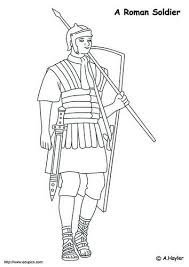 Coloring Page Roman Soldier History Ancients