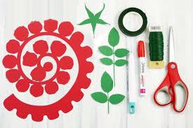 Paper Flower Cutting Tools Rolled Paper Rose Tutorial Fun Realistic Jennifer Maker