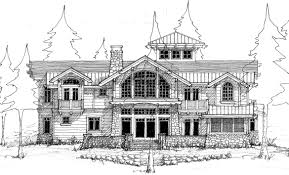 rough architectural sketches. Perfect Rough Waterfront Home Lake Elevation Sketch Designed By Hendricks Architecture Intended Rough Architectural Sketches E