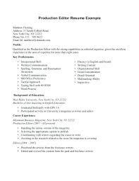 Film Production Assistant Cover Letter Assistant Production Editor Cover Letter Production Assistant Job