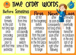 Time Order Words By Teacher Yeni Teachers Pay Teachers