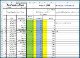 Employee Time Tracking Spreadsheet Template 964