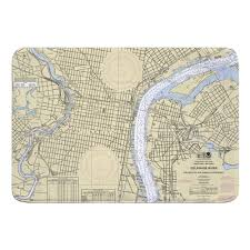 New Jersey Nautical Chart Bath Mats