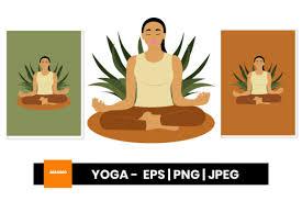 Yoga Clipart Graphic By Maumo Designs Creative Fabrica
