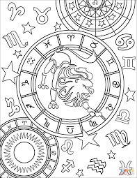 Free Chinese Astrology Chart Coloring Phenomenal Astrology Coloring Book Leo Zodiac