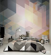 Modern Wall Murals 22 Modern Ideas For Bedroom Decorating With Bold Geometric
