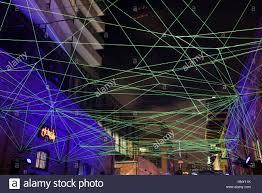 Optic Arts Lighting Green Fiber Optic Cables Art Installation At Toronto Light