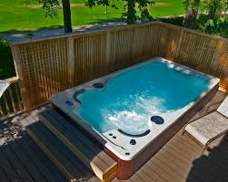 endless pool swim spa. A Backyard Endless Pools Swim Spa Built Into Raised Deck Pictures Of Spas Pool